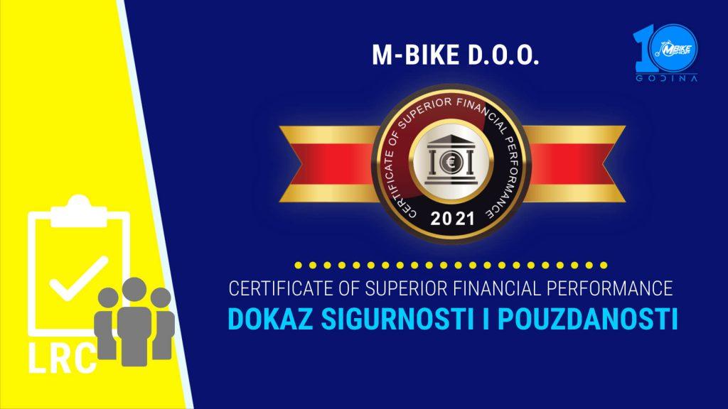 LRC certifikat M-Bike doo dokaz sigurnosti i pouzdanosti